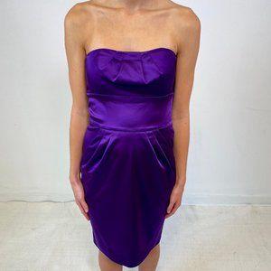DVF Diane Von Furstenberg 2 Strapless Dress Purple